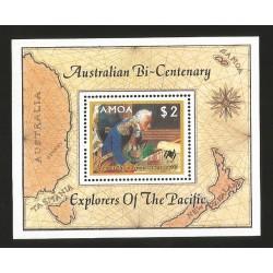 E)1987 SAMOA, AUSTRALIA BICENTENNIAL, EXPLORERS OF THE PACIFIC, COMTE DE LA PEROUSE (1741-1788