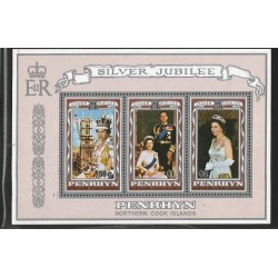 E)1973 COOK ISLANDS, QUEEN ELIZABETH II IN CORONATION REGALIA, SC 349 A57, SOUVENIR SHEET, MNH