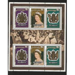 E)1974 COOK ISLANDS, 25TH ANNIV OF THE CORONATION OF QUEEN ELIZABETH II, SOUVENIR SHEET, MHN