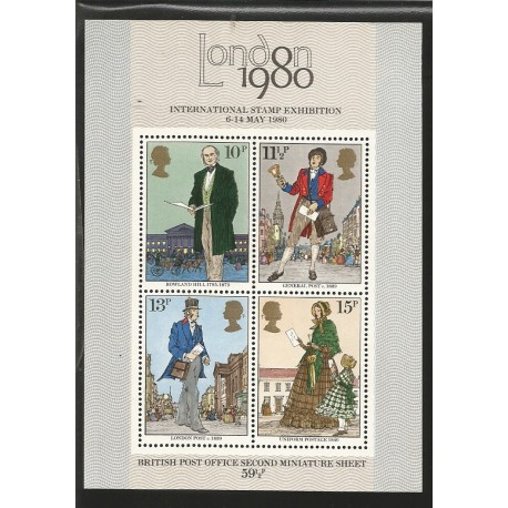 E)1979 GREAT BRITAIN, INTERNATIONAL STAMP EXHIBITION, SC A291 871-874