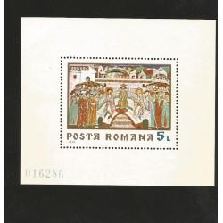 E)1970 ROMANIA, PAITING, ART, COLORS, SOUVENIR SHEET, MNH