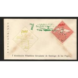 E)1965 CUBA, INTL. ATHELIC COMPETITION, 7TH ANNIV. HURDLING, SC 1040 A313, FDC