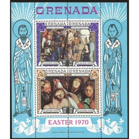 O) 1970 GRENADA, PAINTING RUBENS-EASTER, SOUVENIR MNH
