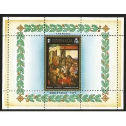 O) 1971 GRENADA, CHRISTMAS, SOUVENIR MNH