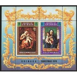 O) 1970 GRENADA, CHRISTMAS, SOUVENIR MNH