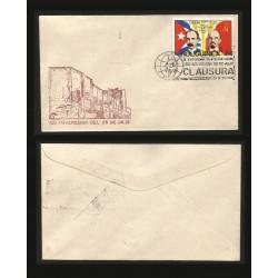 B)1974 CARIBE, FLAGS, JOSE MARTI, LENIN, VISIT OF LEONID I. BREZHNEV TO CUBA, HOLGUINEX 74`CANC, SC 1879 A490, FDC