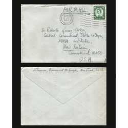 B)1965 LONDON, QUEEN, ROYAL, ROYALTY, QUEEN ELIZABETH, CIRCULATED COVER FROM CHISWICK TO NEW BRITAIN-USA, AIRMAIL, XF