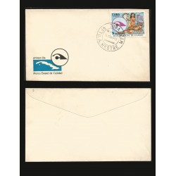 B)1983 CARIBE, WOMEN, THINGS, STATE QUALITY SEAL , SC 2613 A715, FDC