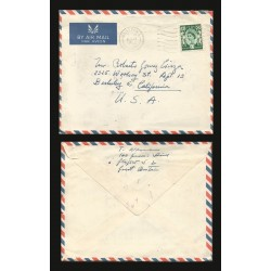 B)1963 SCOTLAND, ROYAL, QUEEN ELIZABETH, AIRMAIL, CIRCULATED COVER FROM GLASCOW-SCOTLAND TO USA, XF