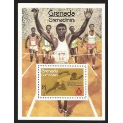 O) 1975 GRENADA, PAN AMERICAN GAMES IN MEXICO 1975, ATHLETICS, SOUVENIR MNH