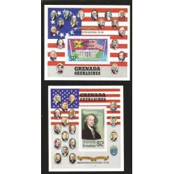 O) 1976 GRENADA, AMERICAN REVOLUTION BICENTENIAL 1776,PRESIDENT GEORGE WASHINGTON,PERSONALITIES-PRESIDENTS, SOUVENIR MNH