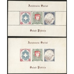O) 1950 GUATEMALA, PERFORATED AND IMPERFORATED,RED CROSS, NURSING PROFESSION, SOCIAL CARE- PUBLIC HEALTH, MNH