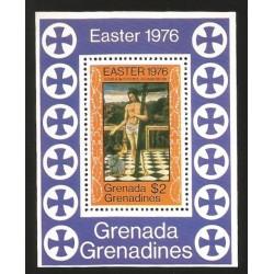 O) 1976 GRENADA. REDEEMER- PAINTING GIOVANNI BELLINI, SOUVENIR MNH