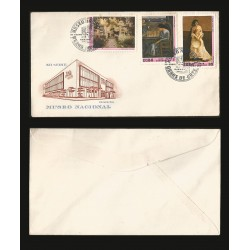 B)1976 CARIBE, PAINTINGS, MUSEUM, PAINTINGS IN NATL. MUSEUMS, GARDEN, SEATED WOMAN, LA CHULA, PAIR OF 3, SC 2028 A541, FDC