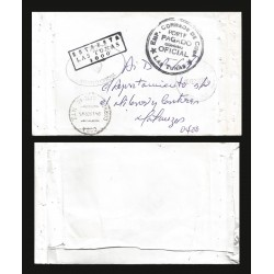 B)1907 CARIBE, OFFICIAL MAIL, ESTAFETA, LAS TUNAS, CIRCULATED COVER FROM MATANZAS, XF