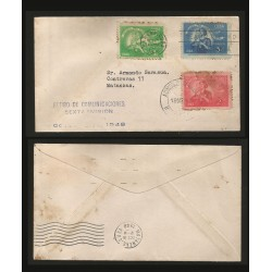B)1948 CARIBE, MOTHER AND CHILD, WITHDRAWAL OF COMMUNICATIONS, PAIR OF 3, SC 415-417 A142, FDC