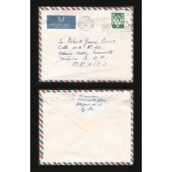 B)1964 SCOTLAND, ROYAL, ROYALTY, QUEEN ELIZABETH, AIRMAIL, CIRCULATED COVER FROM GLASCOW-SCOTLAND TO MEXICO, XF