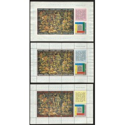 B)1966 BURUNDI, ALLEGORY OF PROSPERITY AND EQUALITY TAPESTRY BY PETER COLFS, 20TH ANNIV. OF UNESCO. E, SHEETS OF 6, MNH