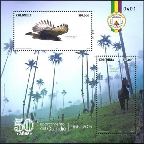 O) 2016 COLOMBIA,QUINDIO-EJE CAFETERO-VALLE COCORA-THE COFFEE,TREE CEROXILON QUINDIUENSE-PALMA DE CERA-SPIZAETUS-RAPTOR, HORSE.