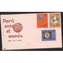 O) 1967 PERU, PERU BEFORE THE WORLD,MAP, FDC XF