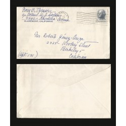 B)1965 FRANCE, SHIELD, PARIS, NATIONAL SAVINGS FUND, CIRCULATED COVER FROM PARIS TO ITALY, AIRMAIL, XF