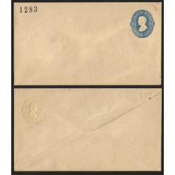 G)1883 MEXICO, 25 CTS. EMBOSSED POSTAL STATIONARY ENVELOPE, TEPIC, UNUSED, XF