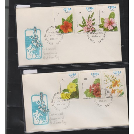 O) 1977 CARIBE, TRIBUTE SCIENTIFIC TOMAS ROIG -BOTANICAL RESEARCHER IN THE FLORA, FLOWERS, FDC XF