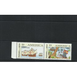 O 1992 COLOMBIA, AMERICA UPAEP, CHRISTOPHER COLUMBUS,CARABELAS-CRAFT, V CENTENNIAL DISCOVERY OF AMERICA, MNH