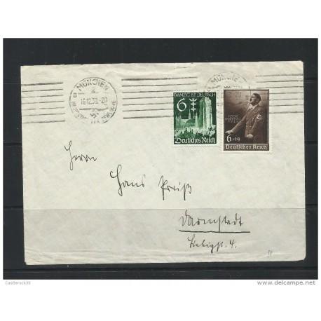 O) 1939 GERMANY, WORLD WAR REGIME-II WW, DANZIG, COVER XF