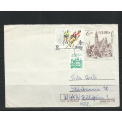 O) 1984 POLAND, XIII LOS ANGELES OLYMPICS CYCLING, TOWN HALL-WROCLAW RATUSZ- ARCHITECTURE, COVER XF