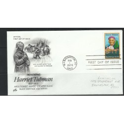 O) 1978 UNITED STATES -USA- HARRIET TUBMAN - ABOLITIONIST-NURSE-ESCAPED SLAVE, FDC XF