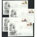 O) 1977 UNITED STATES-USA, SKILLED HANDS FOR INDEPENDENCE 1777, SET FDC
