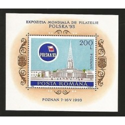 O) 1993 POLAND, ARCHITECTURE NEORROMANICO 1905-POZNAN -WORLD PHILATELY EXHIBITIO