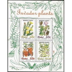 B)1993 CISKEI, FLOWERS, PLANTS, INVADER PLANTS, BLOCK OF 4, MNH