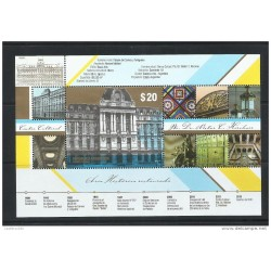 O) 2015 ARGENTINA,CULTURAL CENTER NESTOR C. KIRCHNER-NATIONAL MONUMENT HISTORY-ARCHITECTURE BEAUX ART 1889,STAINED GLASS,MNH