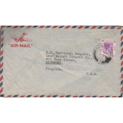 B)1945 HONG KONG, ROYAL, ROYALTY, KING GEORGE VI, SC 164A A16, AIRMAIL, CIRCULATED COVER FROM HONG KONG TO USA, XF