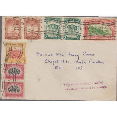 O) 1940 ECUADOR, POSTMARKED SAVINGS BONDS,NEW YORK INTERNATIONAL EXHIBITION 1939,REPUBLIC FOUNDATION 1830,TOBACCO