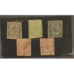 O) 1839 CUBA-CARIBE, SET TIMBRE MOVIL - IMPERFORATE, COAT OF ARMS, XF