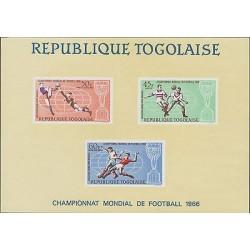 O) 1966 TOGO, WORLD CUP CHAMPIONSHIP ENGLAND, SOUVENIR MNH