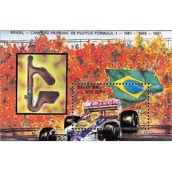 G)1989 BRAZIL, CIRCUIT-BRAZIL FLAG, WORLD CHAMPION ON FORMULA 1 1981-1983-1987,