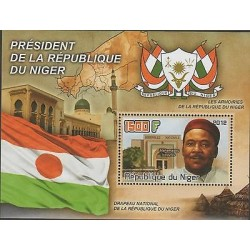 O) 2012 REPUBLIC OF NIGER, MAP, FLAG, COAT, PRESIDENT-MAHAMADOU ISSOUFOU, SOUVEN