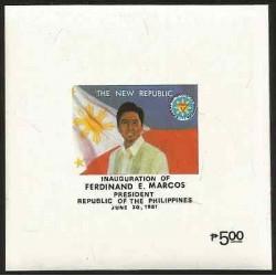 E)1981 PHILIPPINES, INAUGURATION OF FERDINAND E. MARCOS, PRESIDENT,FLAG