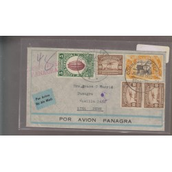 O) 1930 ECUADOR, COCOA, AIRPLANE, CENTENARY REPUBLIC IN 1830, CORREO PANAGRA, COVER TO LIMA