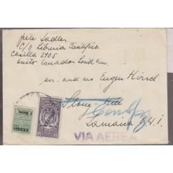 O) 1953 ECUADOR, OVERPRINT 1 SUCRE, 50 CENTAVOS-MOVIL, REVENUE FISCAL, COVER XF