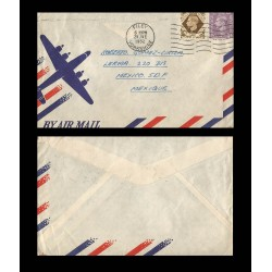 B)1952 GREAT BRITAIN, ROYAL, KING GEORGE VI, CIRCUALTED COVER FROM GREAT BRITAIN TO MEXICO, XF