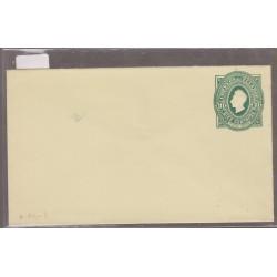 O) 1892 ECUADOR, POSTAL STATIONARY, 10 CENTAVOS OVAL GREEN -UPU, XF