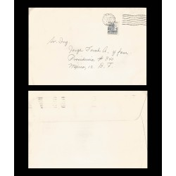 B)1972 MEXICO, ARCHITECTURE, COLONIAL, CATHEDRAL OF PUEBLA 1950, AIRMAIL, CIRCULATED COVER FROM MEXICO, XF