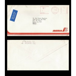 B)1980 GREAT BRITAIN, IBERIA, AIRMAIL, CIRCULATED COVER FROM GREAT BRITAIN TO MEXICO, POSYAL STATIONARY, XF