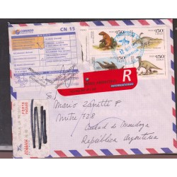 O) 2001 CHILE, MILODON,TITANOSAURIO,IGUADON,PLESIOSAURIO,DINOSAURS-EXTINCT, RETURN MAIL ADDRESS EXIS