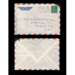 B)1953 SWITZERLAND, LUDWIG PFYFFER, AIRMAIL, SC 275 A82, CIRCULATED COVER FROM SWITZERLAND TO USA, XF